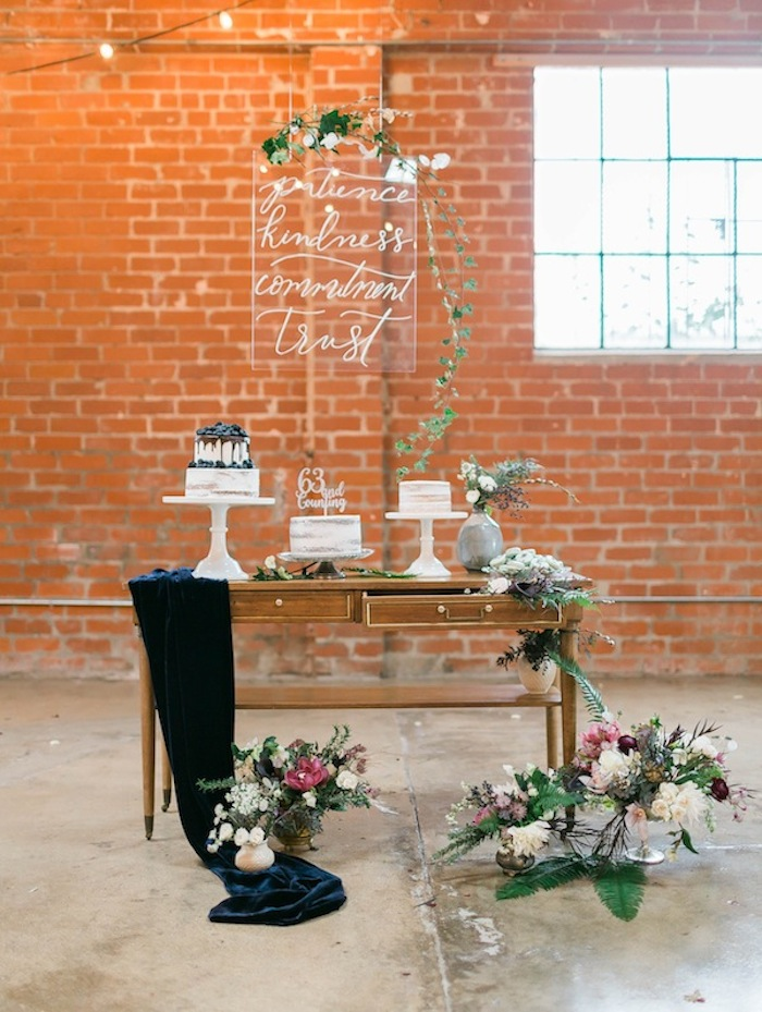 meadows events | wedding anniversary | dessert table ideas