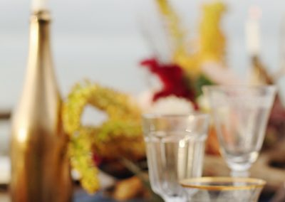 Beach wedding tablescape_styleshoot