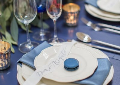 Blue and white tablescape inspiration