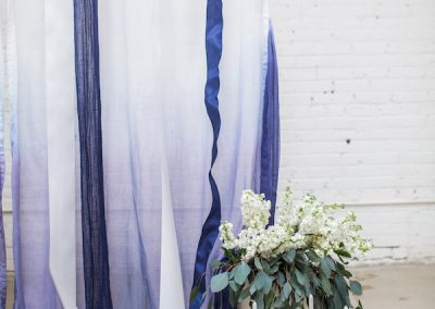 Ribbon backdrop ceremony idea
