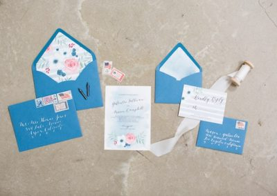 blue, pink and red invitation set 4th of july inspiration