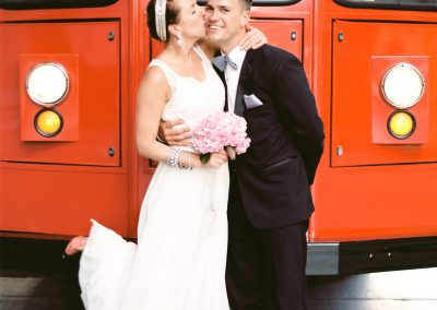 meadows events_bride and groom in front of angel flight railway downtown los angeles