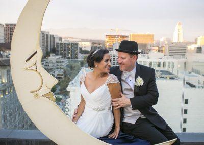 meadows events_bride and groom perch la rooftop wedding