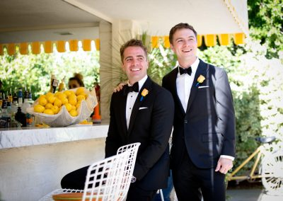 meadows events_two grooms first look at parker palm springs
