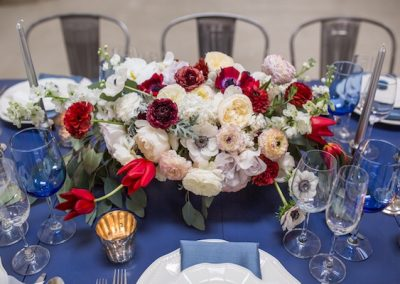 chic red and cream centerpiece_meadows events