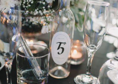 table reception decor california wedding