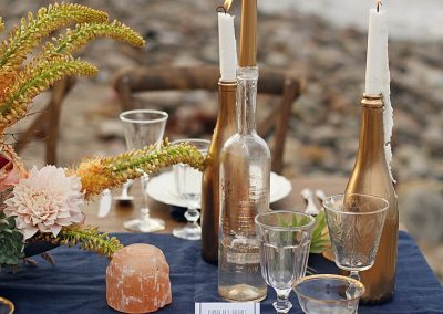 tablescape details laguna beach destination wedding photoshoot