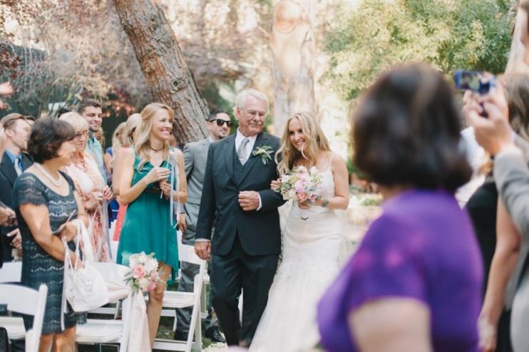 father and daughter malibu wedding