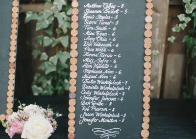 wedding seating chart california wedding planning
