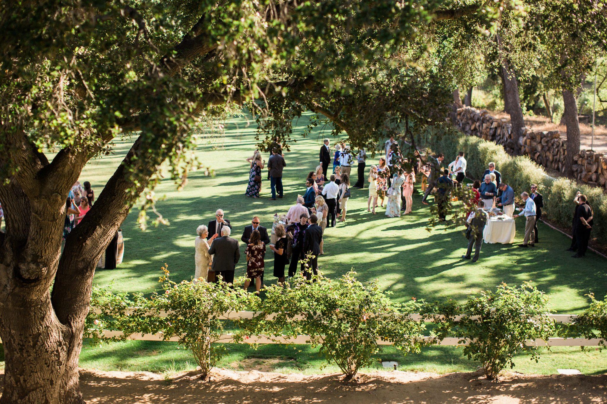 outdoor reception agoura hills brookview ranch