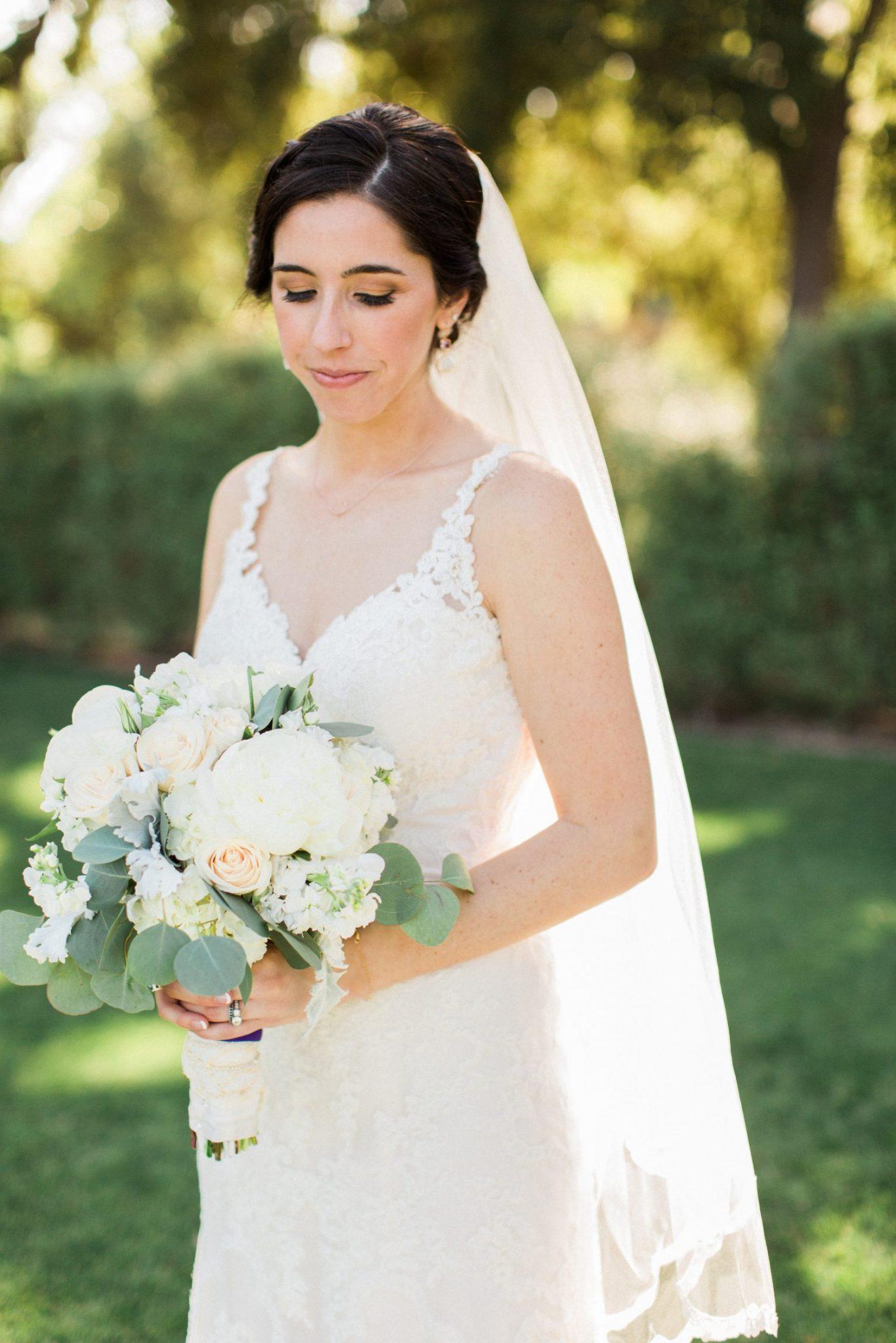 bridal portrait malibu wedding