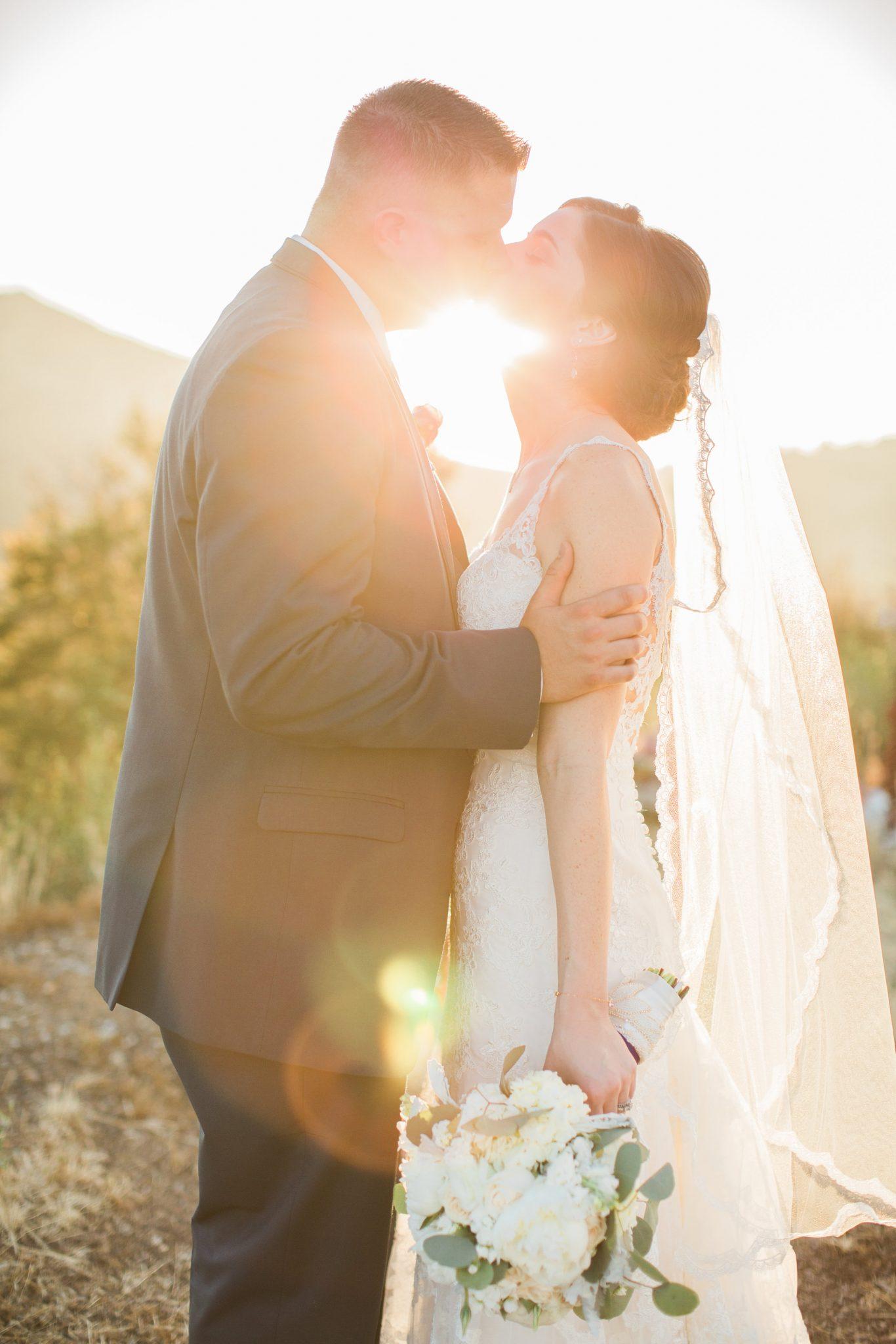 bride and groom portrait malibu wedding