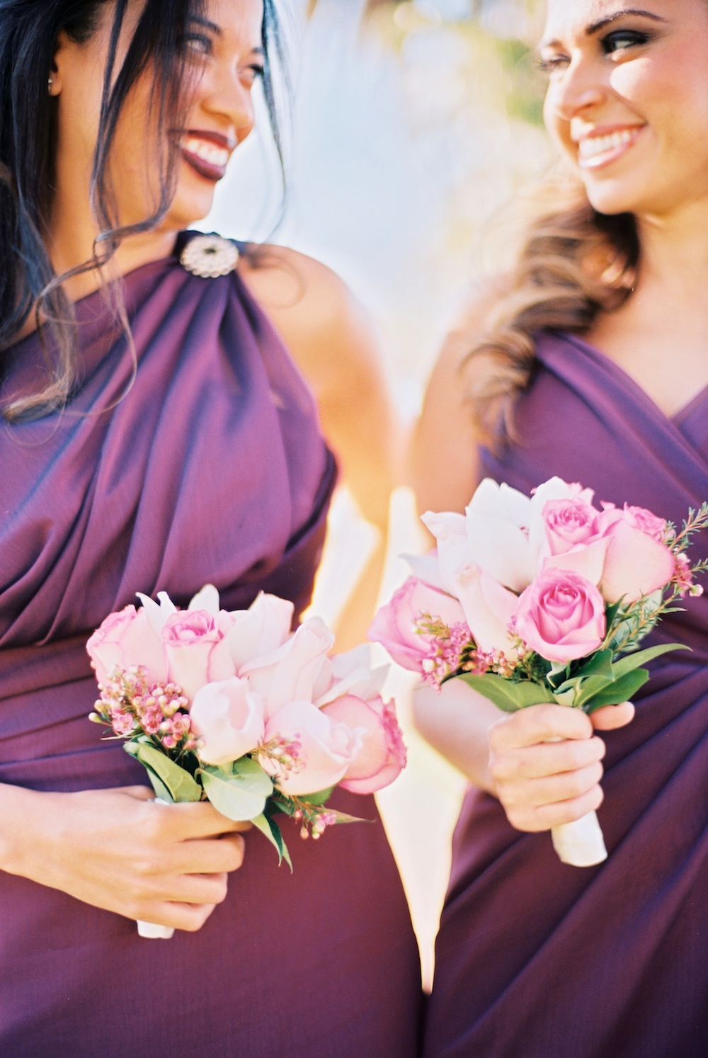 wine color bridesmaid dress
