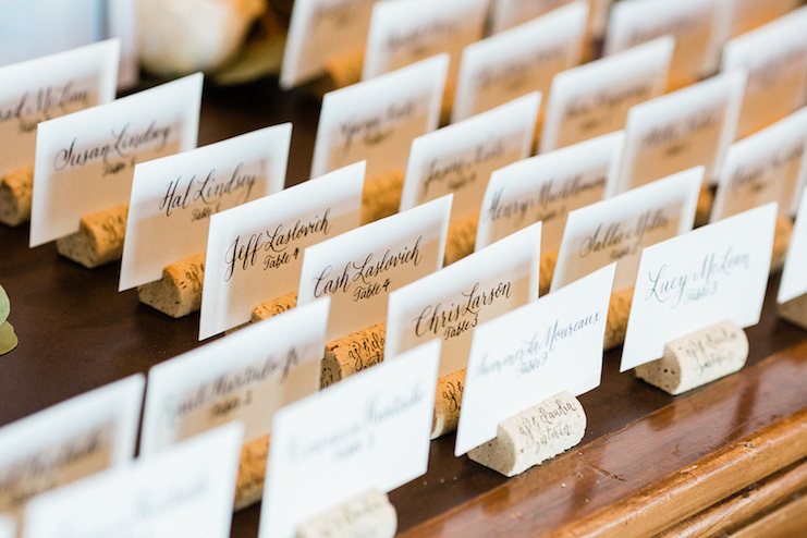 califgraphy escort cards