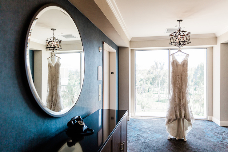 strapless wedding gown _the oaks grille valencia wedding venue photo by anokiart photography