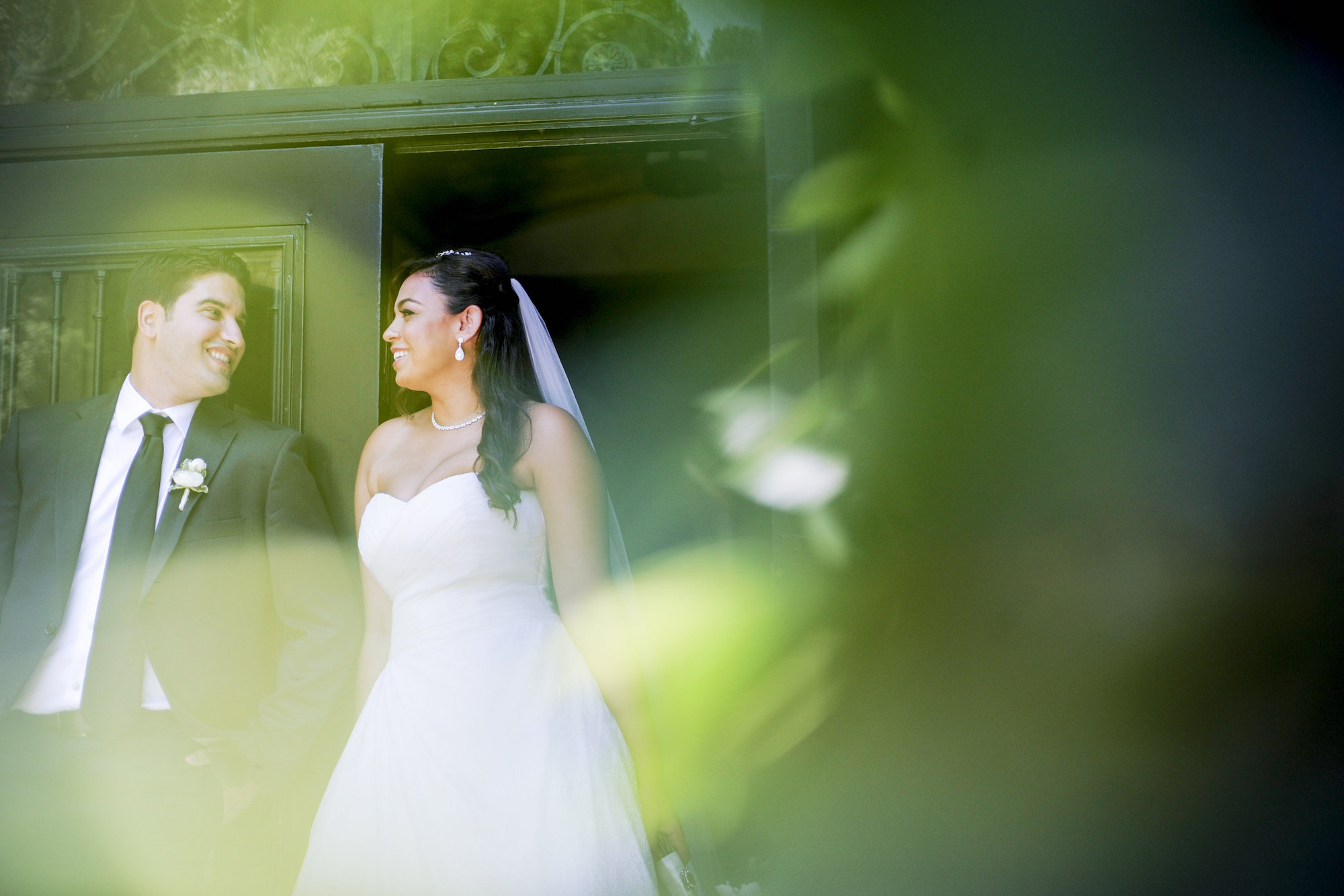 first look dtla wedding session