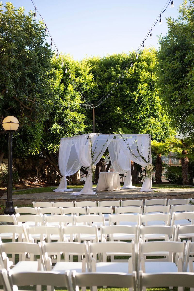 outdoor ceremony chuppah