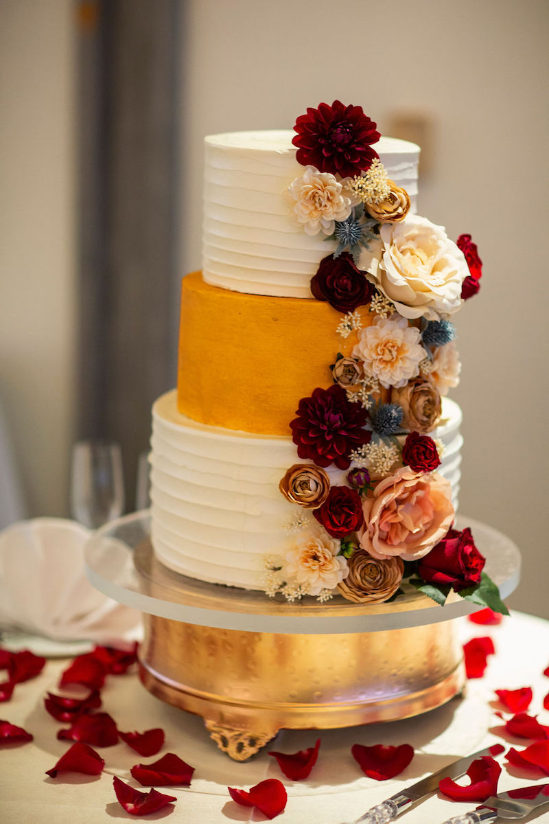 colorful elegant wedding cake