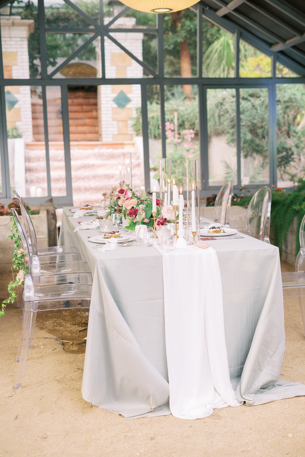 micro wedding table setting
