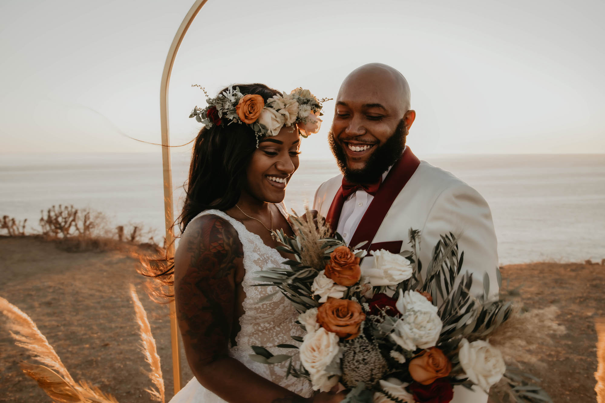 Boho Malibu Elopement florals and elopement planner meadows events. photos 5 by amanda meisters photography