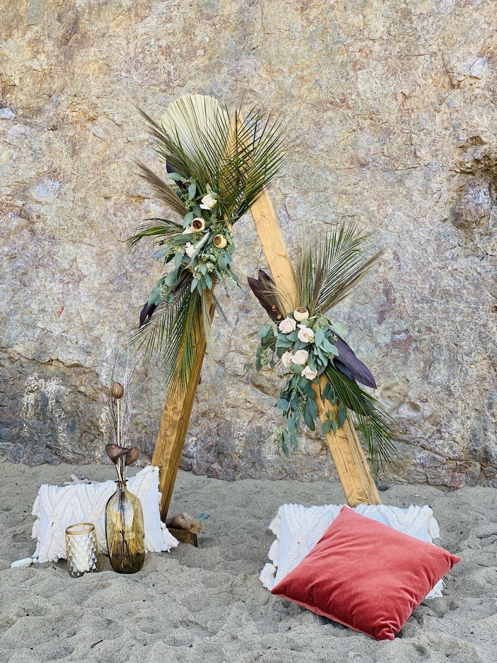 elopement ceremony backdrop