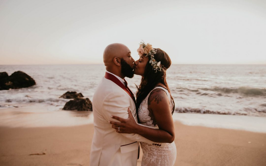 A Moody Sunset Elopement in the Malibu Mountains