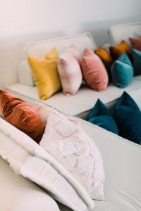 vibrant furniture throw pillows